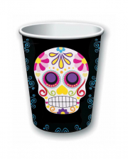 Day Of The Dead Sugar Skull Paper Cups