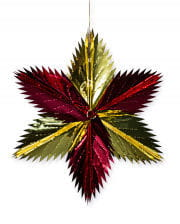 Decoration Star Red Gold