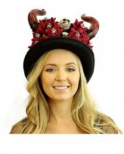 Dia De Los Muertos Top Hat With Horns