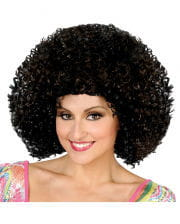 Disco Afro Perücke schwarz/braun