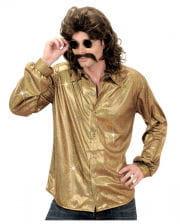 80er Jahre Disco-Hemd Gold