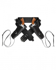 Double Western Gun Holder Black