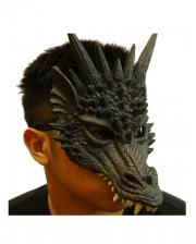 Drachen Halbmaske Schwarz