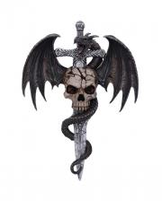 Drachen Skull Wanddeko