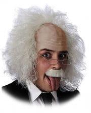 Einstein Perücke mit Brille