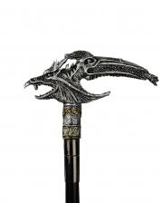 Walking Stick With Fantasy Dragon Heads