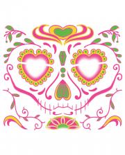 Face Tattoo Sugar Skull weiblich