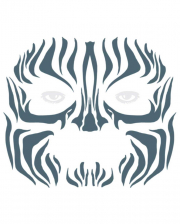 Face Tattoo Tribal Zebra