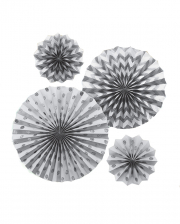 Fan Decoration Set Silver