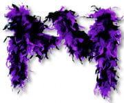 Feather Boa Deluxe Purple Black