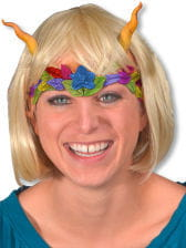 Fairies half mask with wig