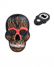 Flaming Skull Bottle Opener