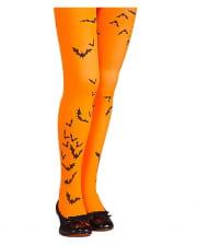 Fledermaus Kinder Strumpfhose orange
