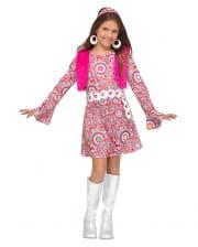 Flower Power Hippie Mädchen Kostüm
