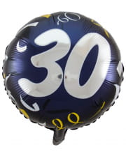 Folienballon 30 schwarz-gold 45cm