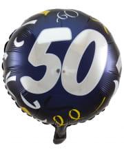 Folienballon 50 schwarz-gold 45cm