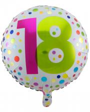 Folienballon Konfetti 18. Geburtstag