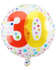 Folienballon Konfetti 30. Geburtstag
