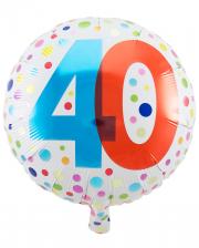 Folienballon Konfetti 40. Geburtstag