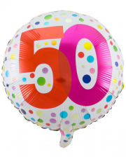 Folienballon Konfetti 50. Geburtstag