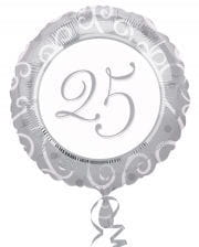 Foil Balloon 25th anniversary silver