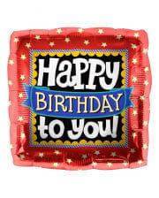Foil balloon Happy Birthday to you