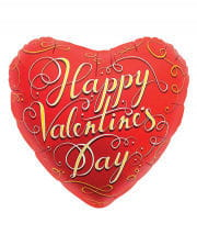 Red Foil Balloon Happy Valentines Day