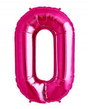 Pink Foil Balloon number 0