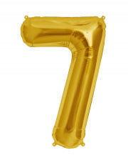 Folienballon Zahl 7 Gold