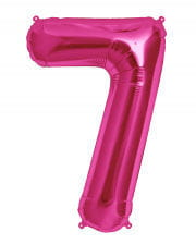 Pink Foil Balloon Number 7