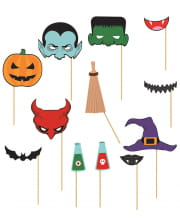 Fotobox Halloween Accessoires 12 Stück