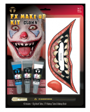 FX Make Up Kit Clown With Adhesive Tattoo