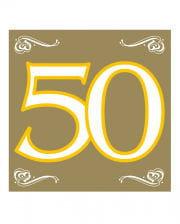 Servietten 50 gold