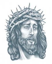 Gefängnis Klebetattoo Jesus