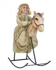 Ghost Girl On Rocking Horse Halloween Animatronic