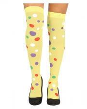 Polka Dot Overknees Yellow