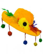 Yellow Bommel Hat For Karnval