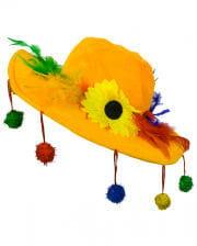 Gelber Bommelhut für Karneval