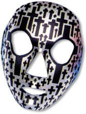 Face Mask Tombstone Silver / Black