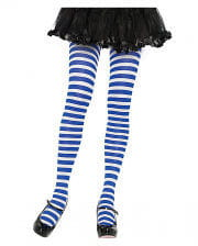 Striped Tights Blue-white