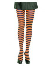 Striped Tights Black-orange