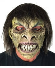 Creepy Ghoul Mask With Hair