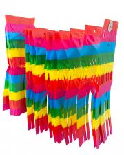 Regenbogen Girlande mit Fransen 10 m