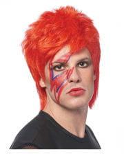 Glam Rocker Perücke neonorange