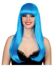 Glamor Diva Wig Neon Blue