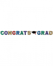 Glittering Congrats Degree Banner