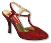 Glitzer Sandaletten rot