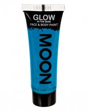 Glow in the Dark Make-up Blau