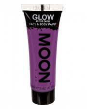 Glow In The Dark Make-up Purple