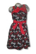 Rockabilly Dress with Bow Print